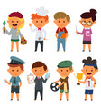 different people with different jobs vector image