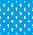 fan pattern seamless blue vector image vector image