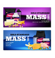 fitness sport nutrition banners vector image vector image