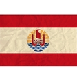 French Polynesia paper flag vector image vector image