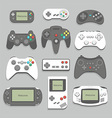 gamepad icon set vector image vector image