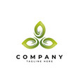 green leaf logo design template vector image