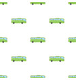 green tour bus icon in cartoon style isolated on vector image vector image