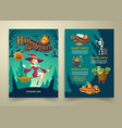 halloween invitation on list brochure with vector image