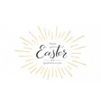 happy easter festive greeting card design of vector image