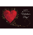Holiday card for a happy Valentines Day vector image vector image