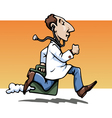 hurry up doctor vector image vector image
