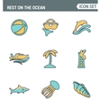 Icons line set premium quality of rest on the vector image vector image