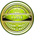 lime gold label vector image vector image