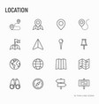 location thin line icons set vector image vector image