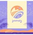 logo travel company Tourist trip The vector image vector image