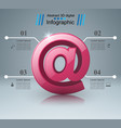 mail and email icon abstract infograpfic vector image vector image