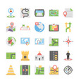 maps and navigation flat icons set 4 vector image vector image