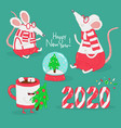 merry christmas and a happy new year vector image
