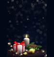 merry christmas and happy new year festive poster vector image vector image