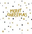 Merry Christmas postcard Christmas typography vector image vector image