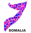 mosaic somalia map of square elements vector image vector image