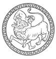 nemean lion 12 labours hercules heracles vector image vector image