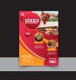 pizza restaurant menu flyer vector image vector image