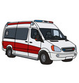 red and white ambulance vector image vector image