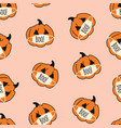 seamless background corona halloween vector image