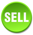 sell green round flat isolated push button vector image vector image