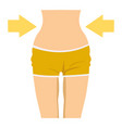 slim female waist icon vector image