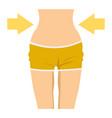 slim female waist icon vector image vector image
