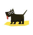 Small Black Terrier Dog vector image vector image