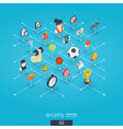 sport integrated 3d web icons digital network vector image vector image