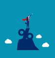 super business businessman standing on top vector image vector image