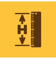 The height icon Altitude elevation level hgt vector image vector image