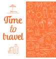 time to travel background vector image vector image