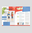 time to travel - colorful brochure template vector image vector image