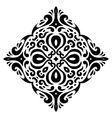Tribal tatto square shape vector image