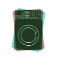 washing machine sign colorful icon shaked vector image vector image