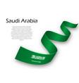 waving ribbon or banner with flag of saudi arabia