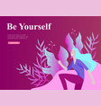 web page design template for beauty dreams vector image vector image