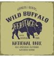 Wild Buffalo typography design vector image vector image