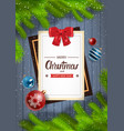 winter holidays backround merry christmas and vector image