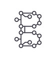 blockchain technologycircuit line icon vector image