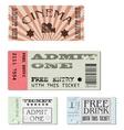 set tickets vector image