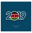 2019 kenya typography happy new year background vector image vector image