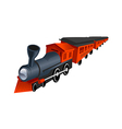 A view of a train vector image vector image