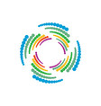 abstract geometry circle logo image vector image