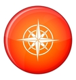 Ancient compass icon flat style vector image vector image