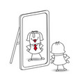 be yourself karen vector image