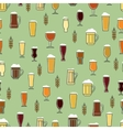Beer glasses colorful seamless pattern vector image vector image