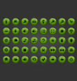 big set of button vector image