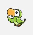 bird mascot design vector image